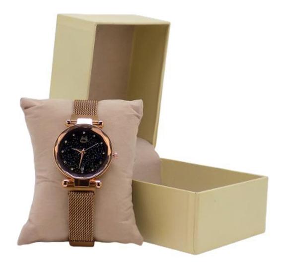 Relógio Feminino Orizom Analógico Aço Inox Pulseira