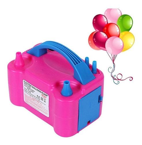Bomba Electrica Doble Infla Globos Compresor Para Cumpleaños