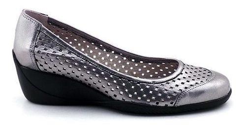 Zapato Mujer Cuero Briganti Goma Casual Taco Moda Mccz03138