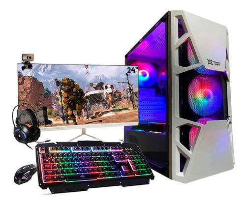 Pc Gamer Completo I7 Gtx 1650 8gb Ssd 480gb Monitor 24 Curvo