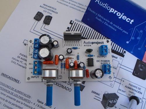 Imagen 1 de 6 de Modulo Amplificador 2.1 6+6+20 Watts Con Vol - Con Disipador