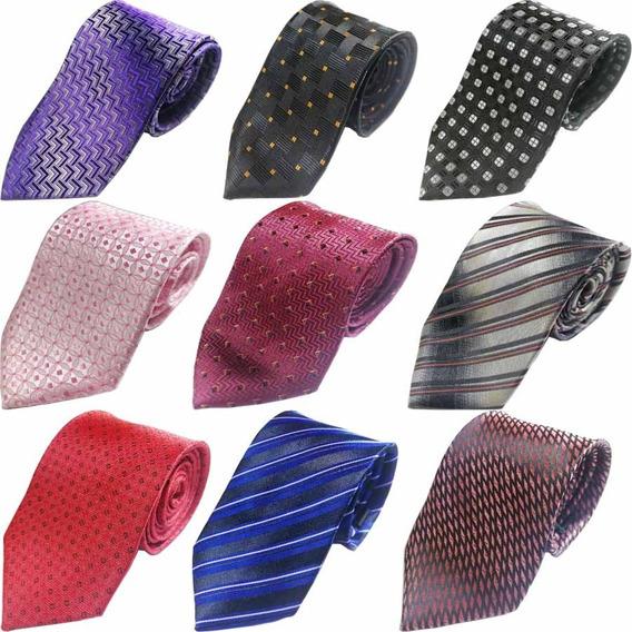 Gravata Masculino Tradiconal Estampas Varias Kit10 Atacado