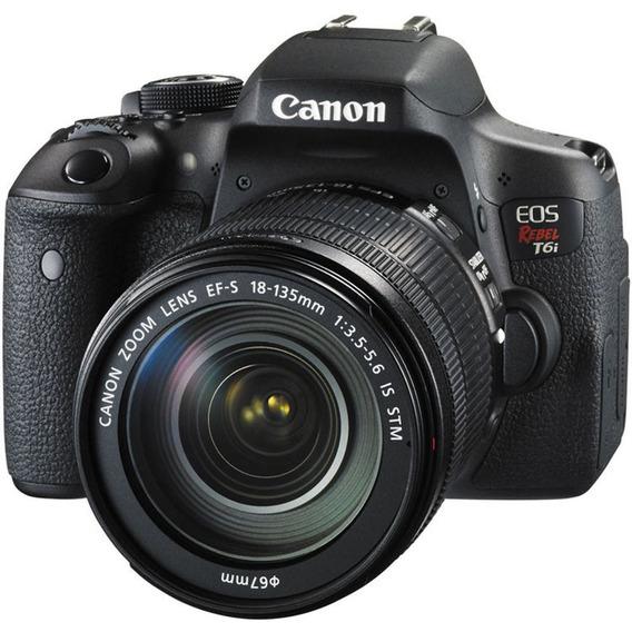Canon Eos Rebel T6i Kit 18-135mm Is Stm - 24mp
