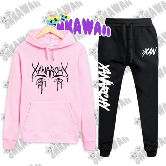 Combo Lil Xan Buzo Canguro + Pantalon Jogging Xanarchy