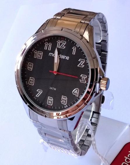 Relógio Masculino Mondaine Prateado Original 83437gomvne1.