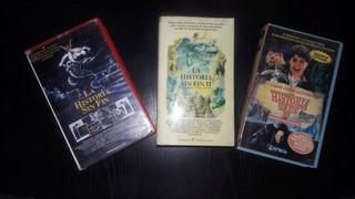 La Historia Sin Fin- Pack De 3 Peliculas - Cassettes Video