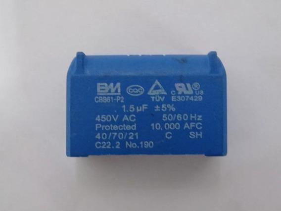 Capacitor 1.5uf Cbb61 Placa Condensadora Ar Condiciona Split