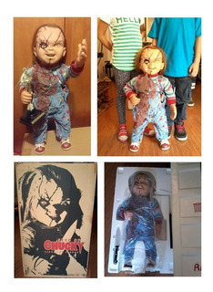 Chucky Sideshow Collectibles Life Size 711mm Original Nuevo