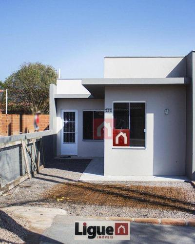 Imagem 1 de 7 de Casa Com 2 Dormitórios À Venda, 54 M² Por R$ 150.000,00 - Pedreira - Santa Cruz Do Sul/rs - Ca0282