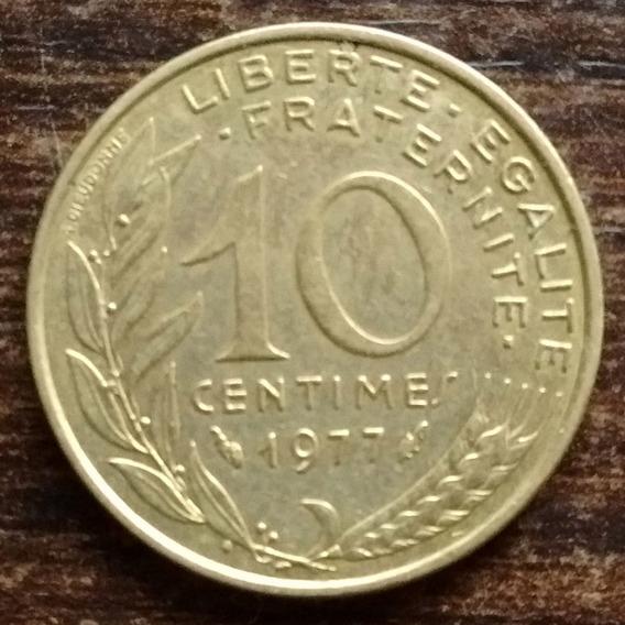Moneda 10 Céntimos Francia 1977 Excelente
