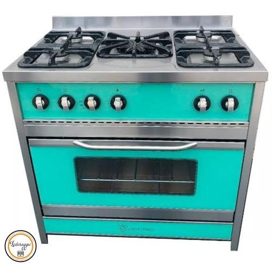 Cocina Inoxidable Retro Chiara 90 + Cacerola Enlozada Promo
