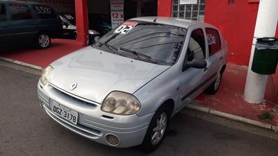 Clio Sedan 2002 1.6 Prata Completo