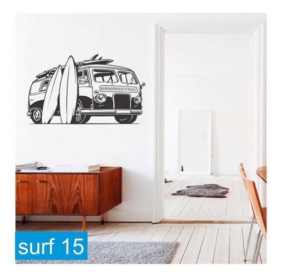 Vinilo Decorativo Surf Surfer Mar Olas Tabla Surf