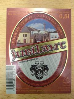 Etiqueta Cerveza Checa Jubilant. Nueva