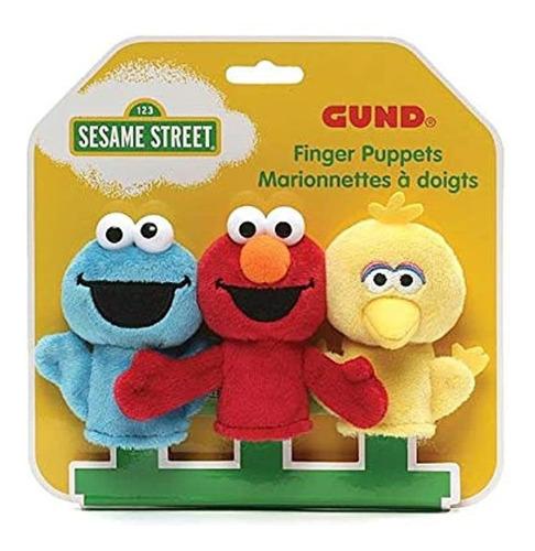 Imagen 1 de 1 de Juego De 3 Cachorros De Dedos, Diseño De Elmo