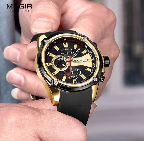Relógio Megir 2086 Chronograph Funcional À Prova D