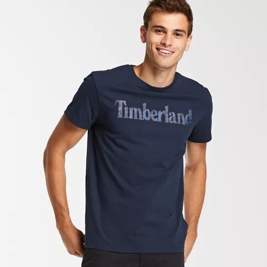 Camiseta Timberland Manga Corta Hombre Playera Logo Camo L