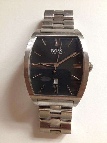 Relógio Clássico Hugo Boss Com Pulseira Cromada