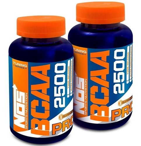 Kit 02 Tuning Bcaa 2500mg Nos Nutrition 120 Comprimidos