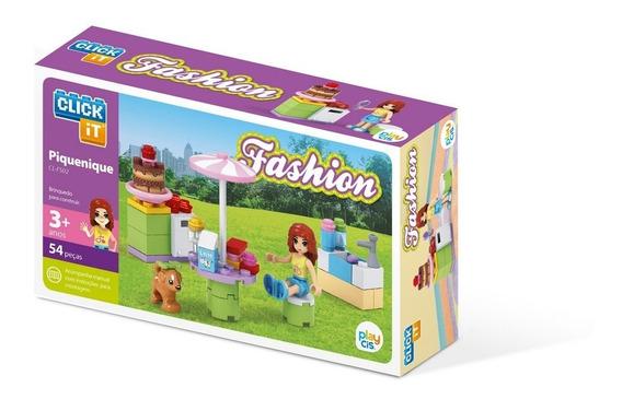 Brinquedo Blocos De Montar Com 54peças Fashion Piquinique
