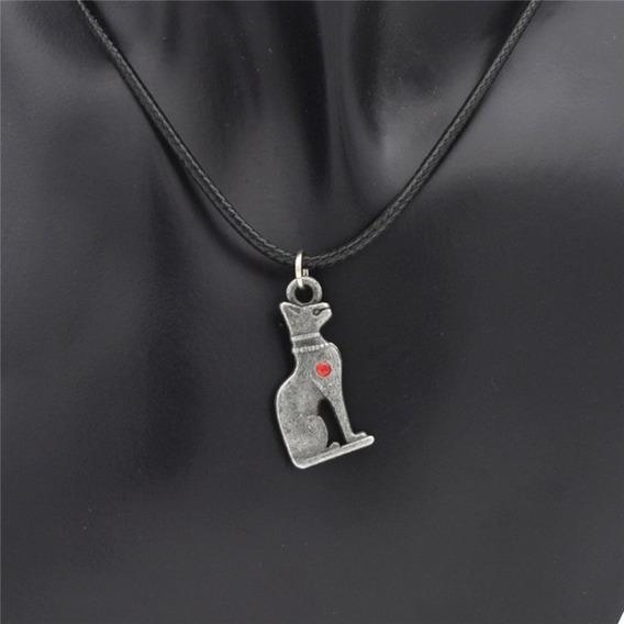 Colar Egito Pingente Bastet Amuleto Egito