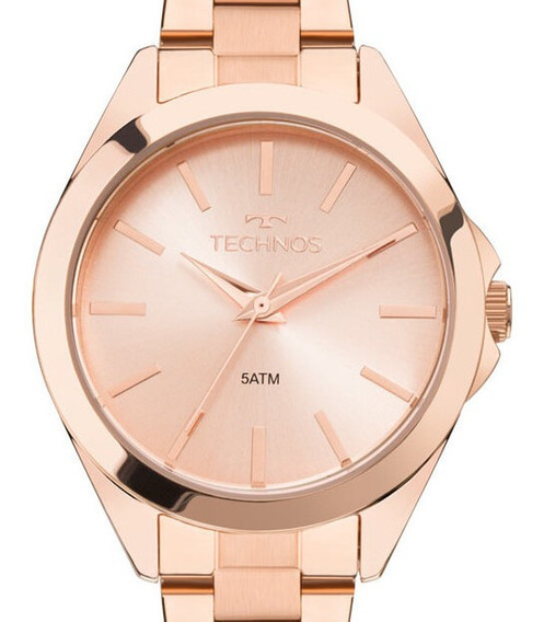 Relógio Technos Feminino Rose Gold -