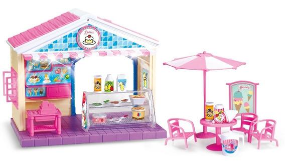 Casa Pequeña De Muñecas Tienda De Dulces El Duende Azul Full