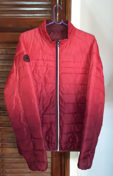 Campera Inflable Raiders Rojo Bordó