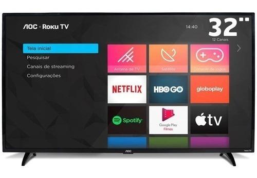 Smart Tv Led 32 Aoc Roku S5195/78g, Hd Hdmi Usb E Wi-fi