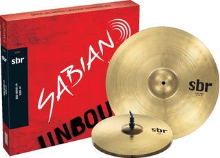 Set Platillos Sabian Sbr 2-pack Hit Hat 14 Crash Ride 18