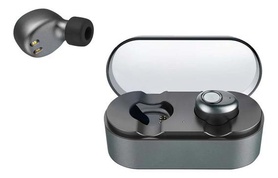 Earphone Metallic Tws Bluetooth 4.2 Resistente À Água Pulse