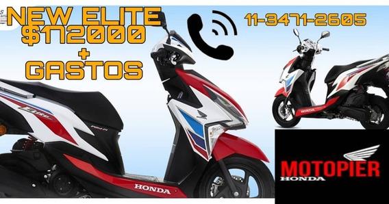 Scooter New Elite 125 Honda 0km Tricolor Envio Fcia 12/18