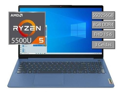 Imagen 1 de 9 de Notebook Lenovo Ideapad Ryzen 5 5500 8gb Ssd256 15,6 Full Hd
