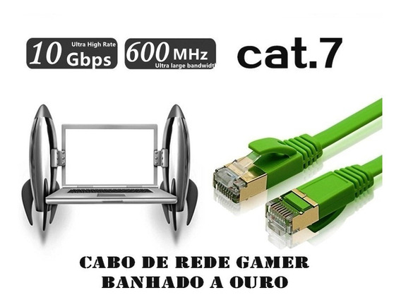 Cat 7 Cabo De Rede Gamer 2m 600mhz Tv Xbox Ps4