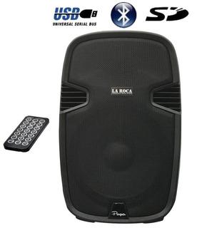 Bafle Activo Potenciado 10 240w Bluetooth Usb Sd La Roca - Cuotas