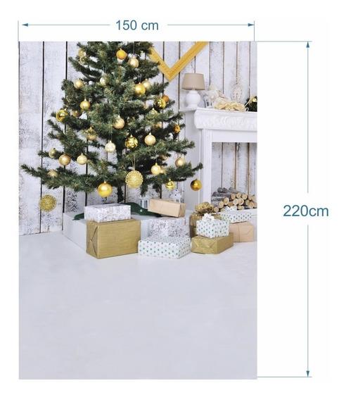 Fundo Natal Fotográfico Arvore E Detalhes Brancos