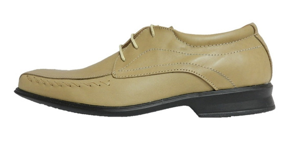 Zapatos Morris Cuero Suela Febo Beige 6943 Negro 7231