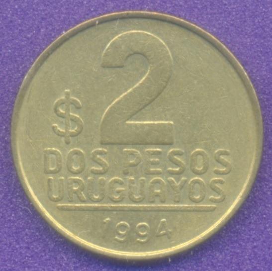 Moneda Uruguay 2 Pesos Uruguayos 1994