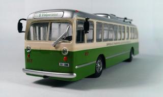 Trolley Bus Valparaiso Chile Ixo Metal Escala 1:72