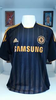 Camisa Futebol Chelsea Laranja E Preta