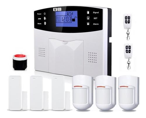 Imagen 1 de 7 de Kit Alarma Inalámbrica Casa Comercio Gsm 3g 6 Sensores Y Acc