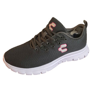 Tenis Charly 1049401 Mujer Gris Casual Deportivo Textil