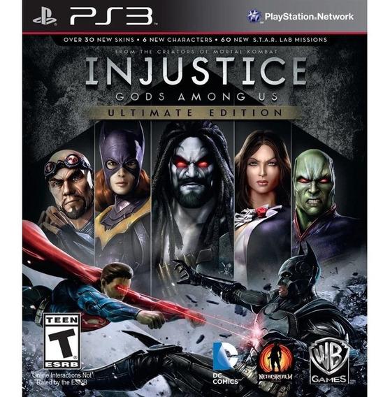 Injustice Gods Among Us Ultimate Dublado Ps3 Psn