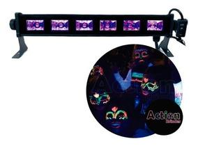 Ribalta Refletor Uv Luz Negra 30cm Efeito 6 Leds Iluminação