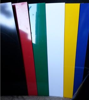 Placa Chapa Plástico Duro Ps Colorida 2mmx50cmx50cm = 2x