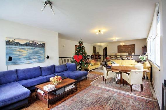 Apartamento Com 4 Dormitórios Para Alugar, 300 M² Por R$ 18.000/mês - Consolação - São Paulo/sp - Ap2138