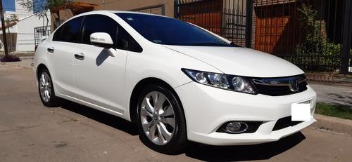 Honda Civic Exs Blanco Tope De Gama Cuero Llantas 17 Full