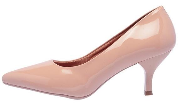 Sapato Feminino Scarpin Verniz Salto 4,5 Cm Lançamento 2019