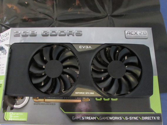 Placa De Video Gtx 950 2gb Evga Geforce Nvidia