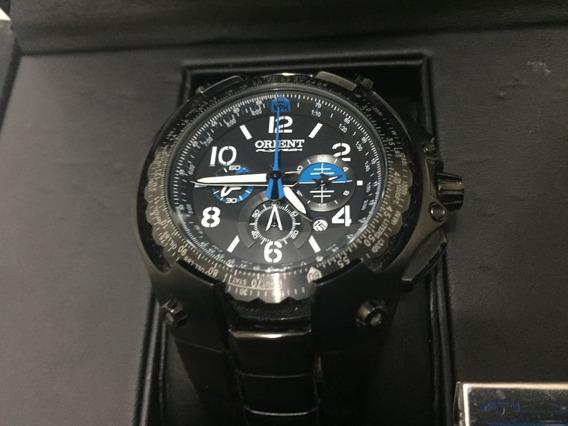 Relógio Orient Mpttc001 P2px Flytech 10th Anniversary Preto